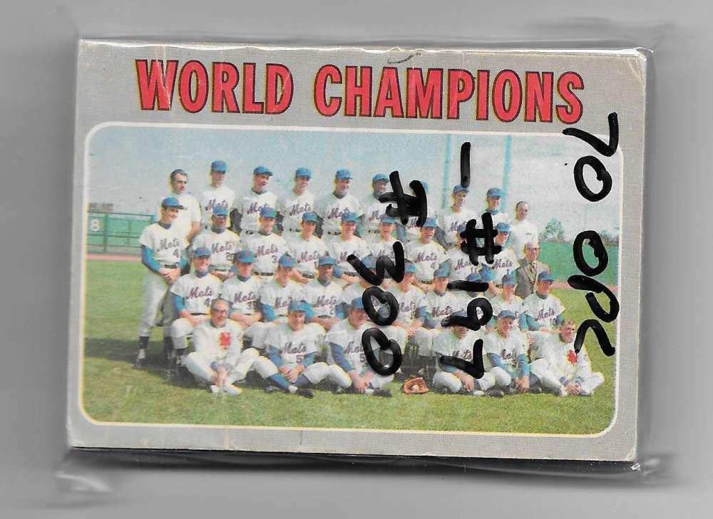 1970 O-Pee-Chee (OPC) VG-EX - NEW YORK METS Near Team Set -2 cards
