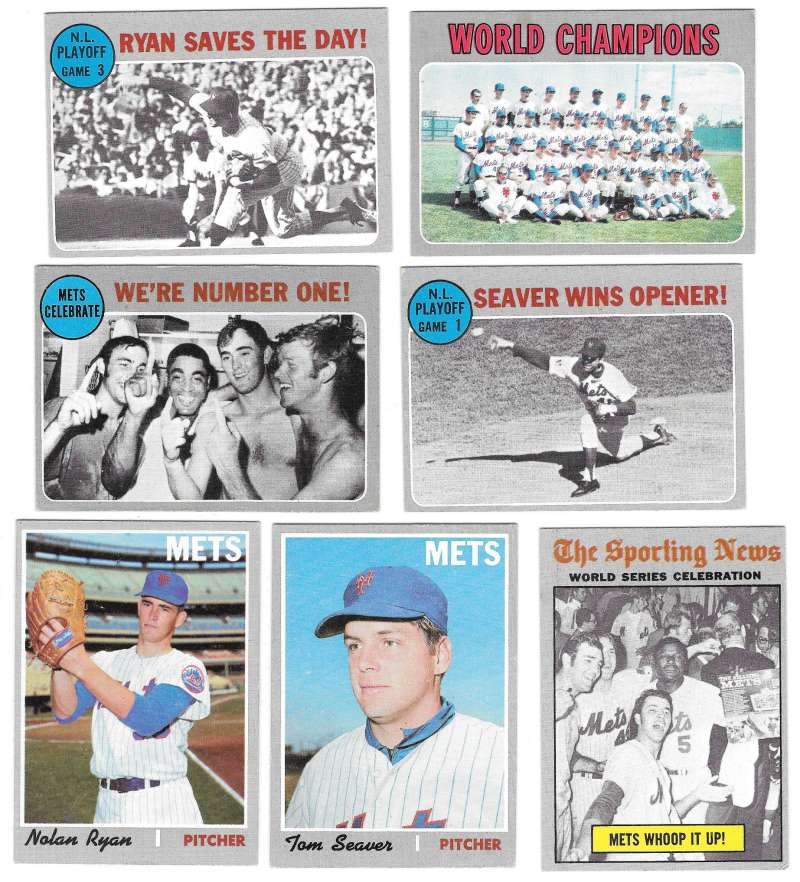1970 Topps - VG+EX Condition NEW YORK METS Team Set Ryan EX