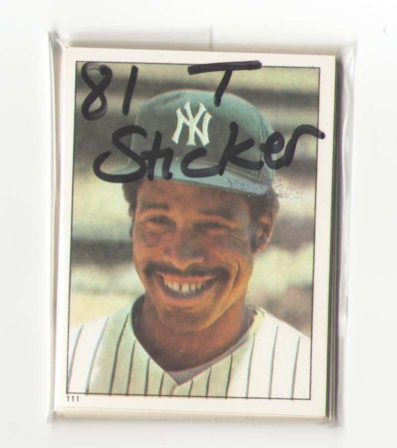 1981 Topps Stickers NEW YORK YANKEES Team Set