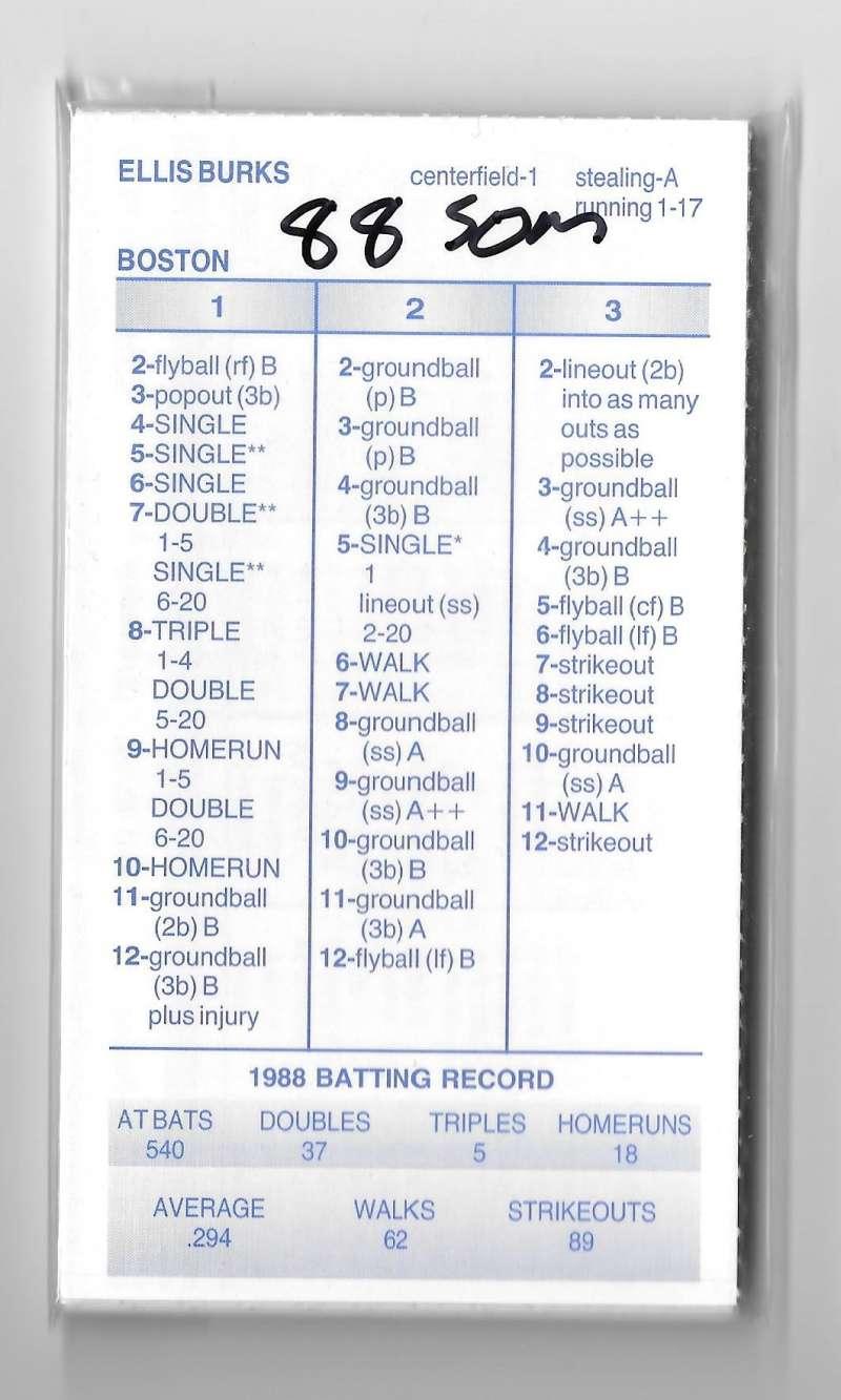 1988 Strat-O-Matic Season - BOSTON RED SOX Team Set