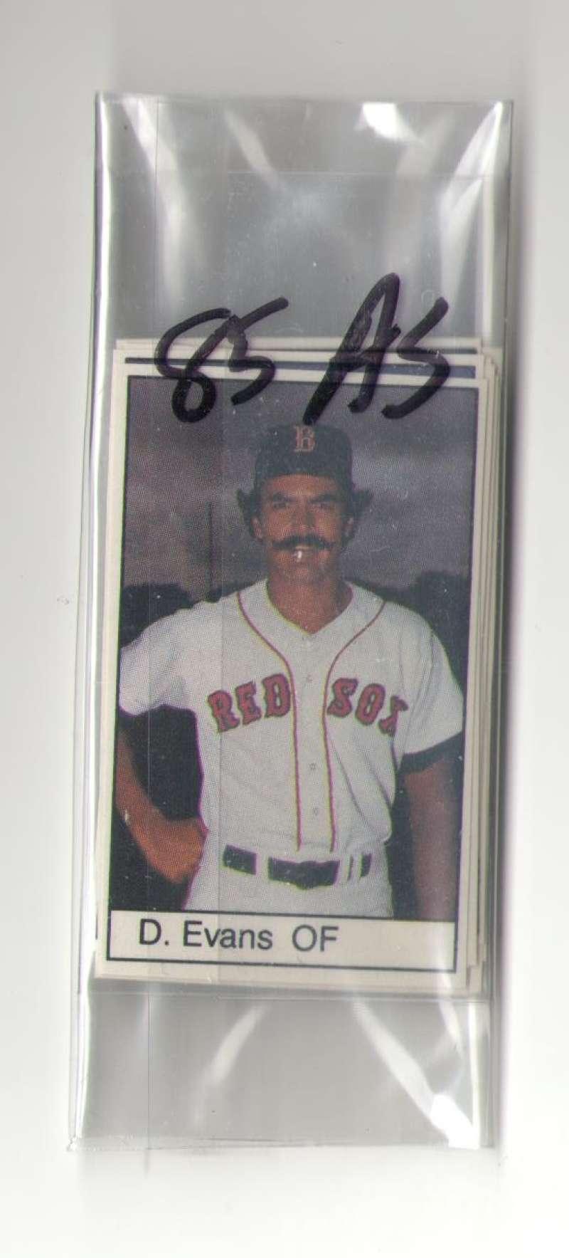 1985 All-Star Game Program Inserts BOSTON RED SOX Team Set