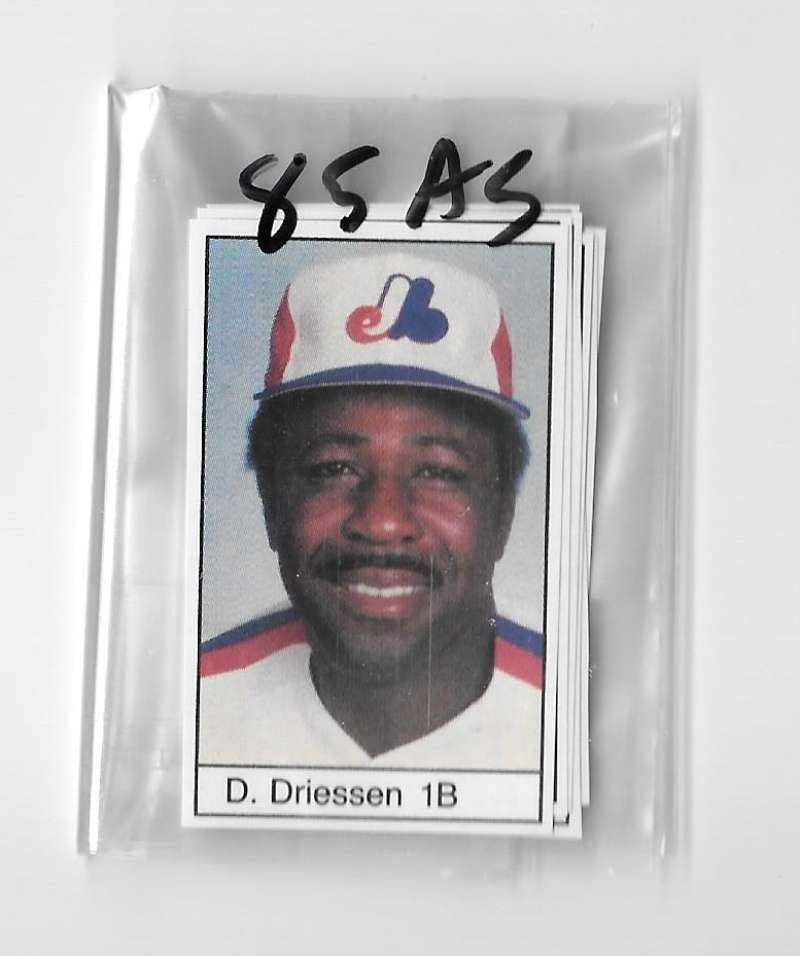 1985 All-Star Game Program Inserts MONTREAL EXPOS Team Set