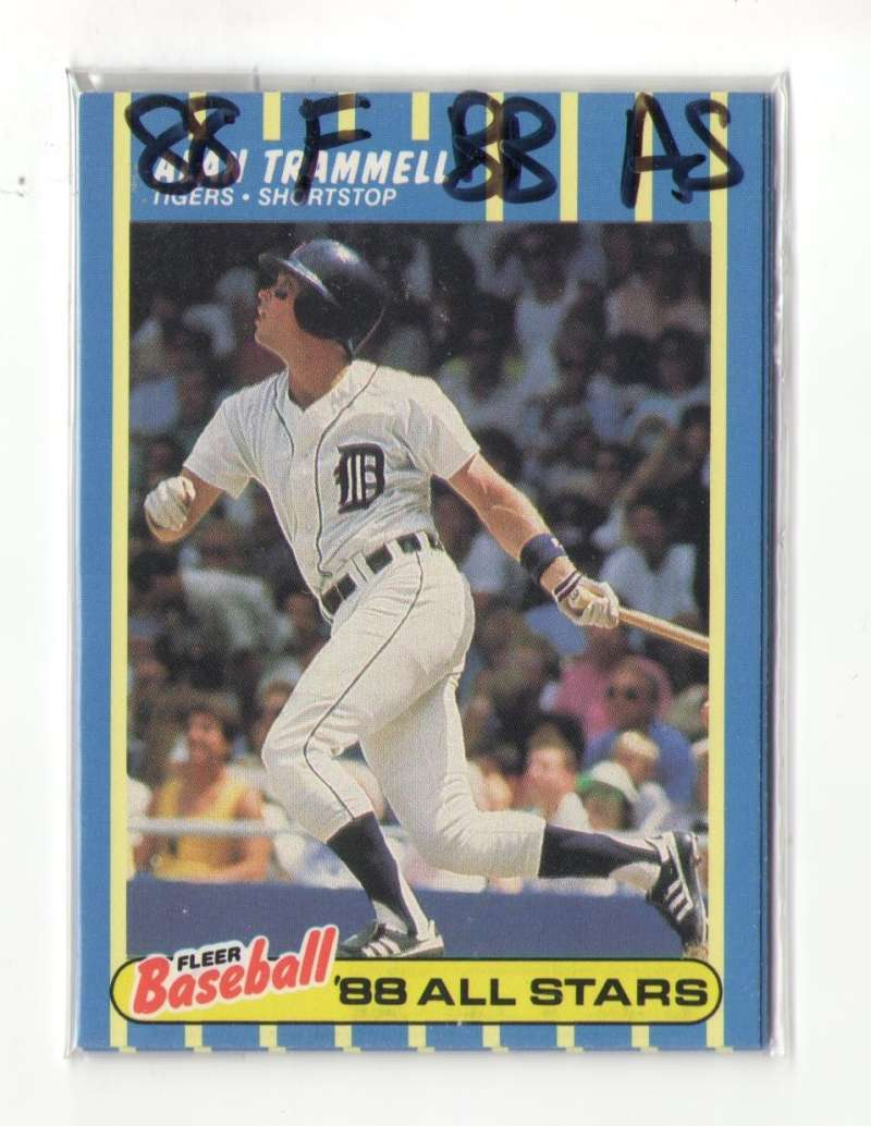 1988 Fleer Baseball All-Stars - DETROIT TIGERS Team Set
