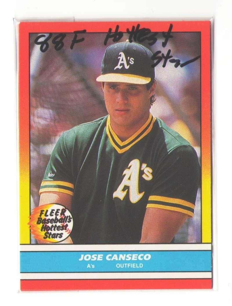 1988 Fleer Baseball Hottest Stars - OAKLAND As Team set