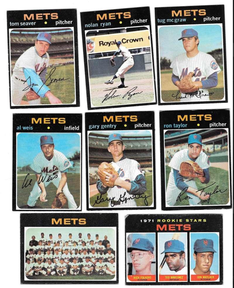 1971 Topps VG-EX NEW YORK METS Team Set Ryan EX, #648 Poor