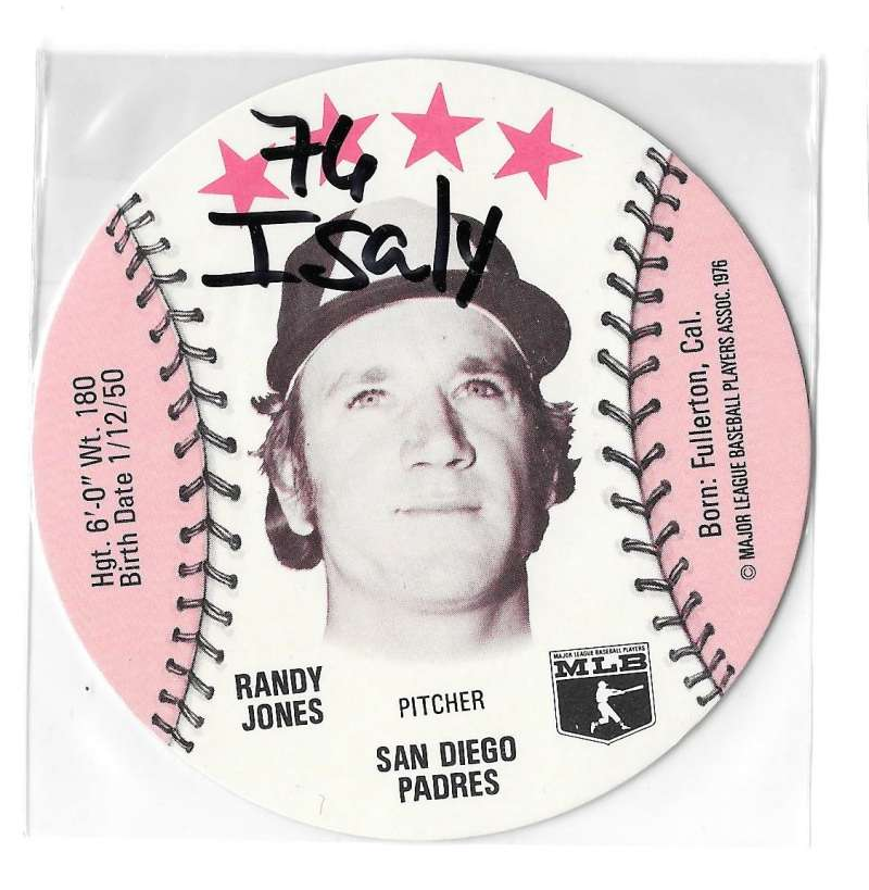 1976 Isaly Disc - SAN DIEGO PADRES Team Set