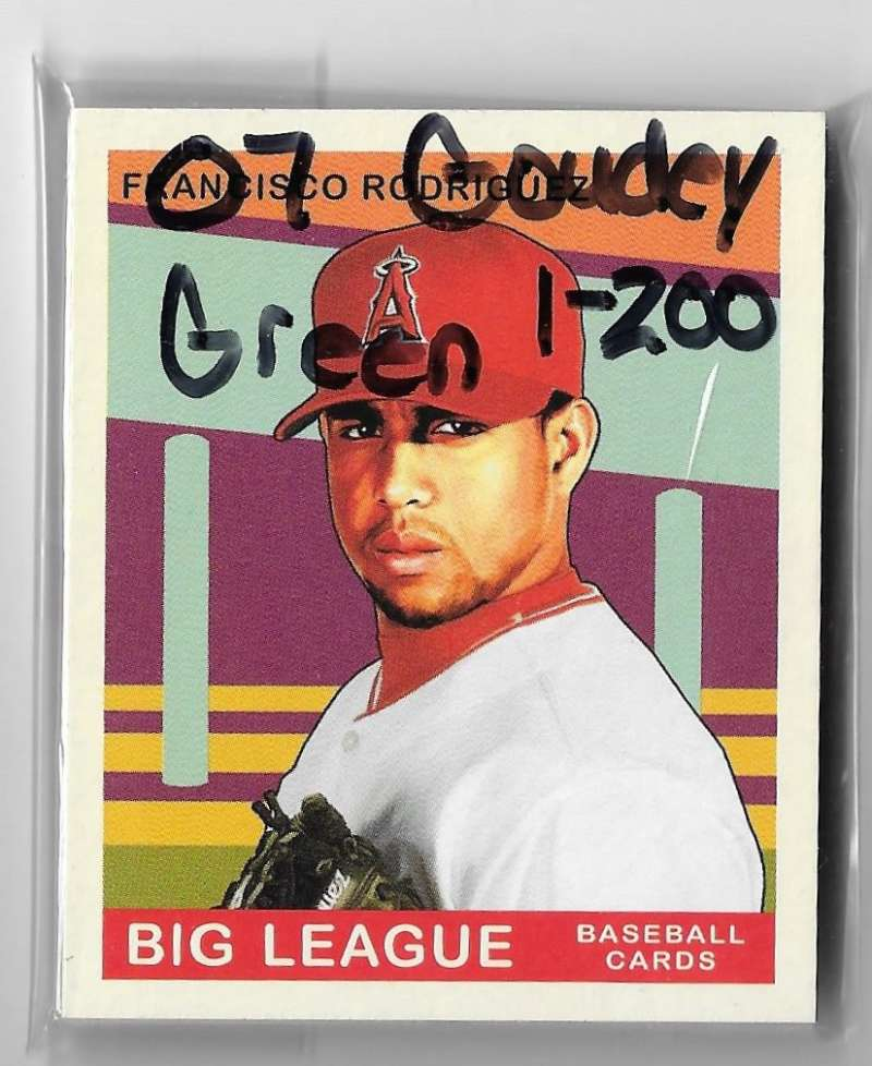 2007 Goudey Green Backs (1-200) - LOS ANGELES ANGELS Team Set