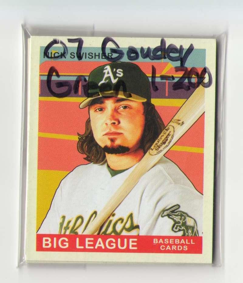2007 Goudey Green Backs (1-200) - OAKLAND ATHLETICS / A'S Team Set