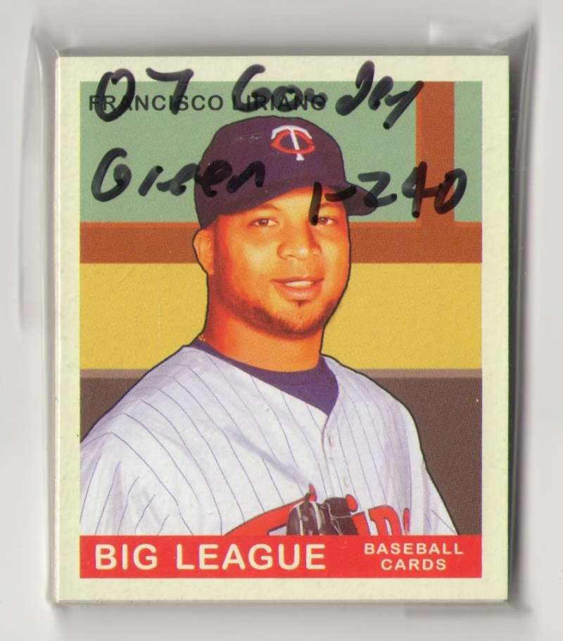 2007 Goudey Green Backs (1-240) - MINNESOTA TWINS Team Set