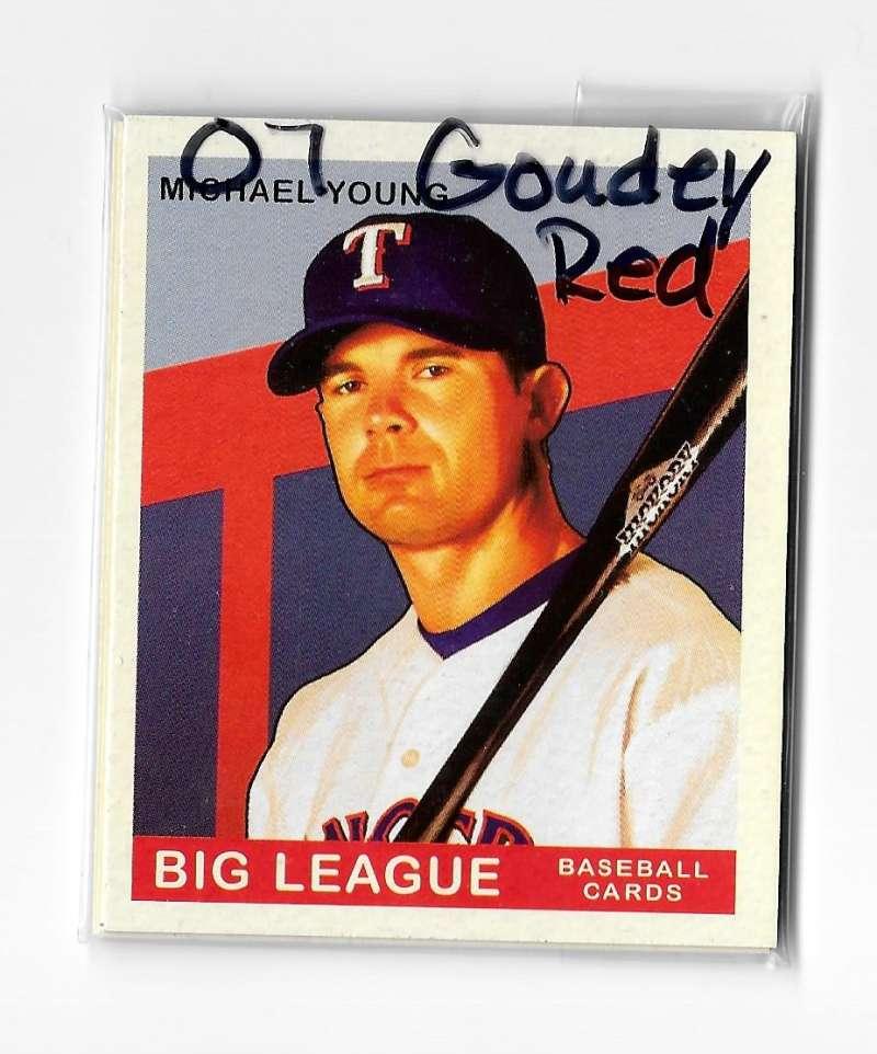 2007 Goudey Red Backs - TEXAS RANGERS Team Set