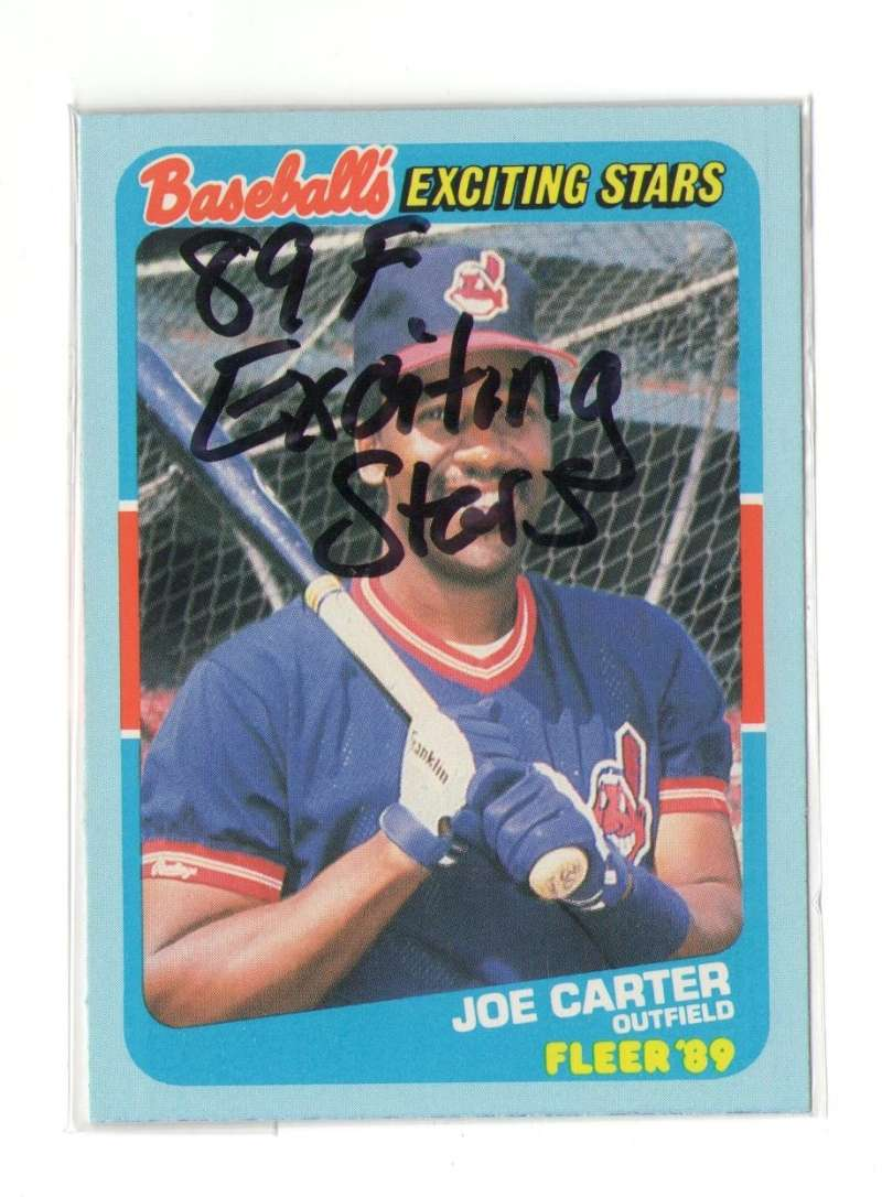 1989 Fleer Exciting Stars - CLEVELAND INDIANS Team Set