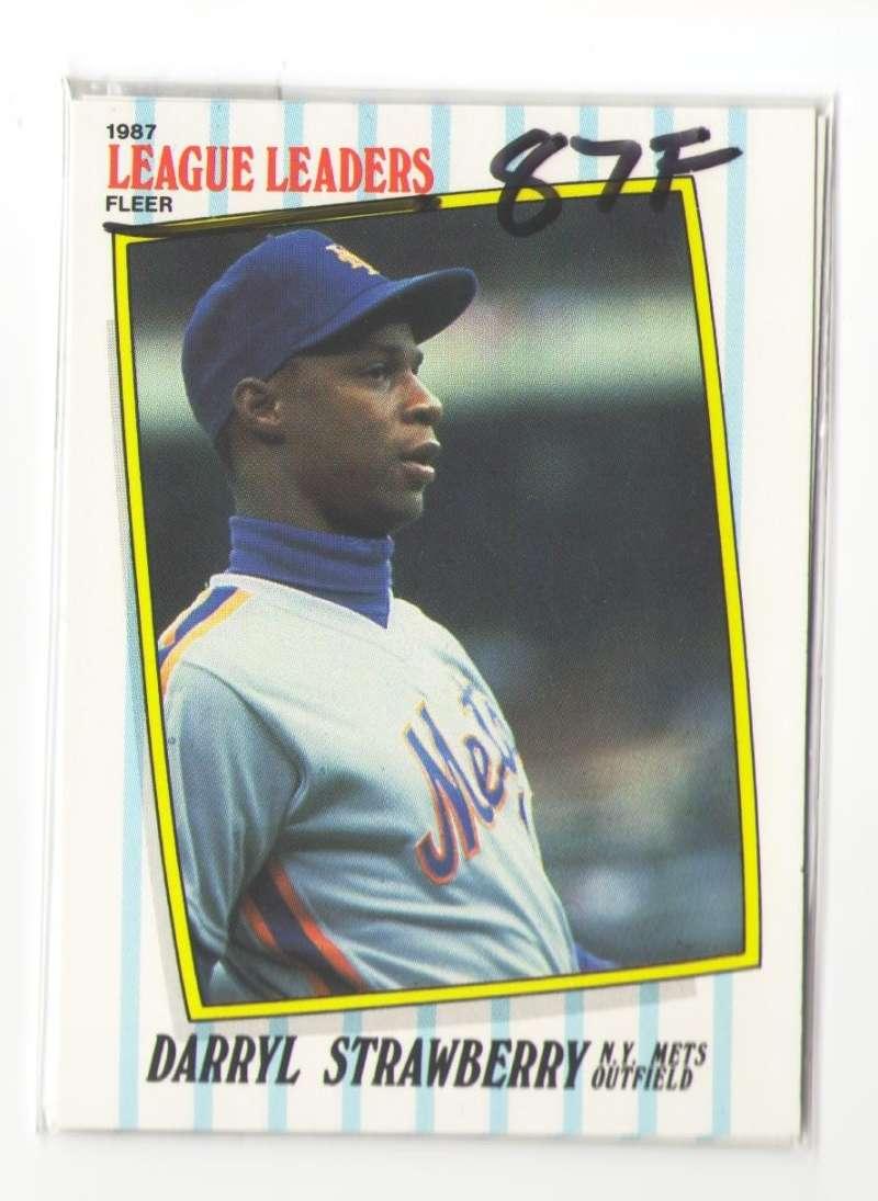 1987 Fleer League Leaders - NEW YORK METS Team Set