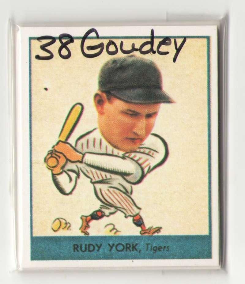 1938 Goudey Heads Up Reprints - DETROIT TIGERS Team Set