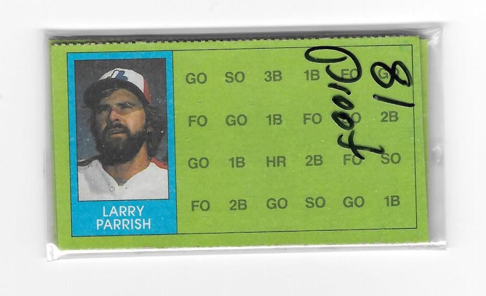 1981 Topps ScratchOff Proofs - MONTREAL EXPOS Team Set