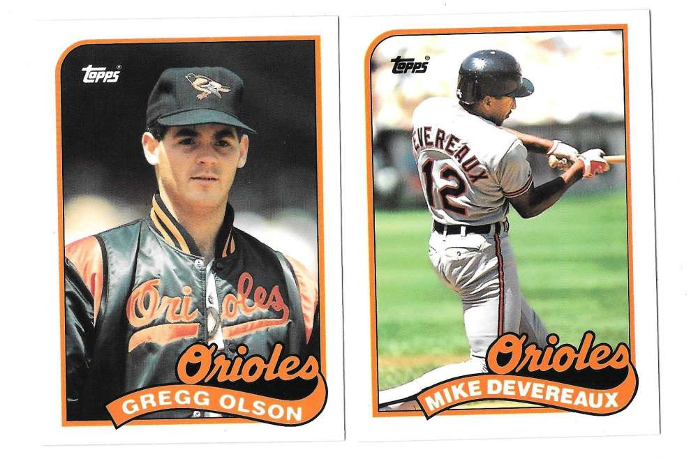 1989 Topps Traded TIFFANY - BALTIMORE ORIOLES Team Set
