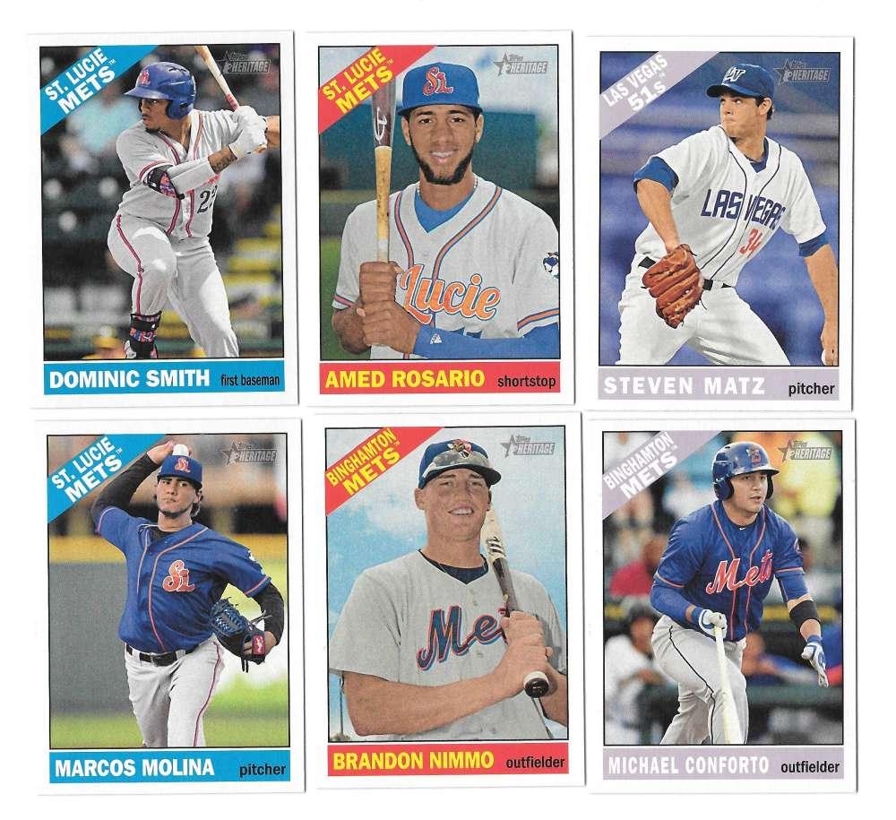 2015 Topps Heritage Minors - NEW YORK METS Team Set