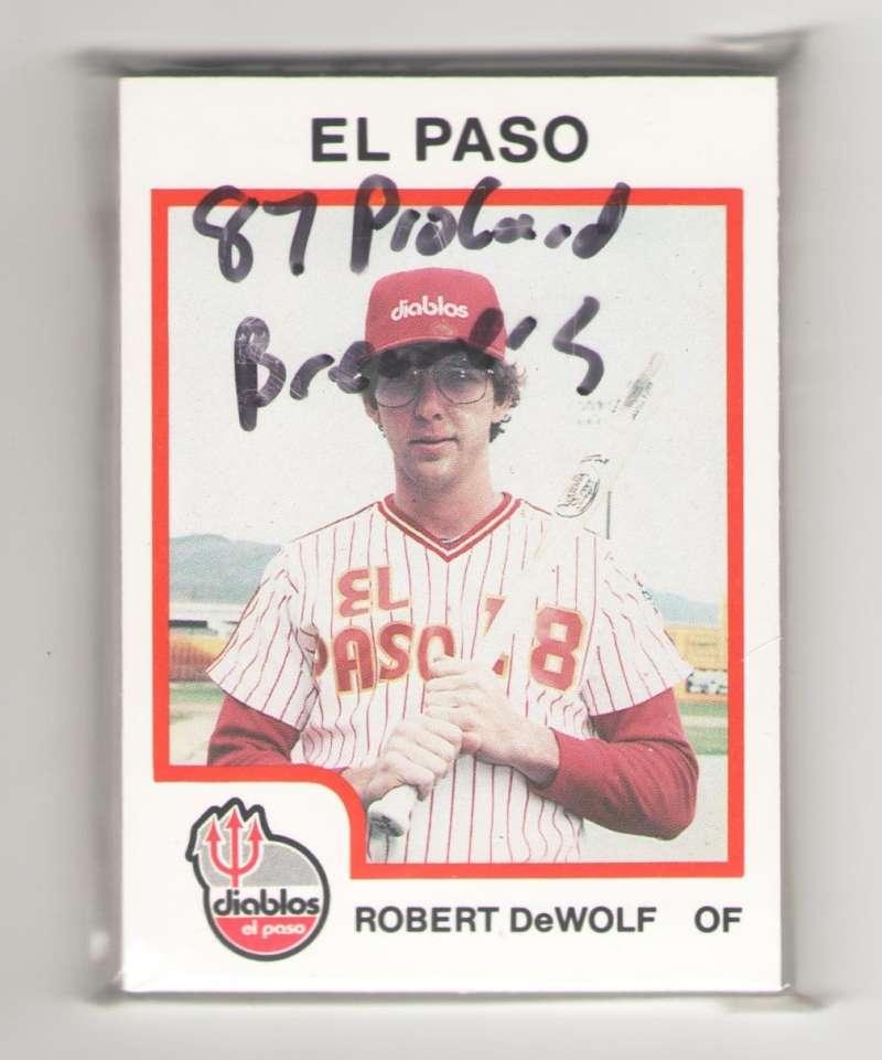 1987 ProCards Minor League Team Set - El Paso Diablos (Brewers)