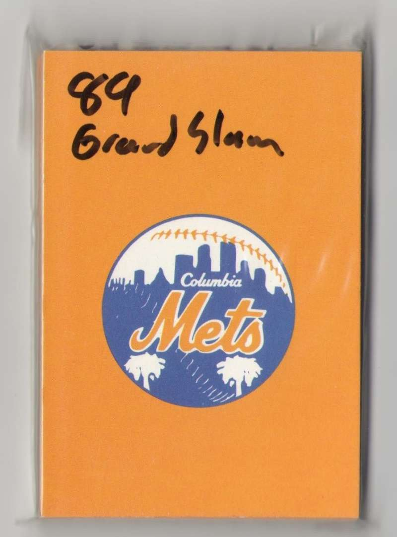 1989 Grand Slam Minor League Team Set - Columbia METS