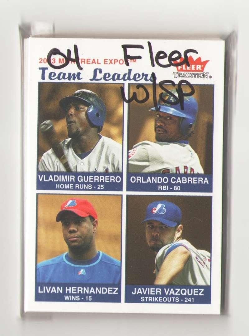 2004 Fleer Tradition w/SP - MONTREAL EXPOS Team Set
