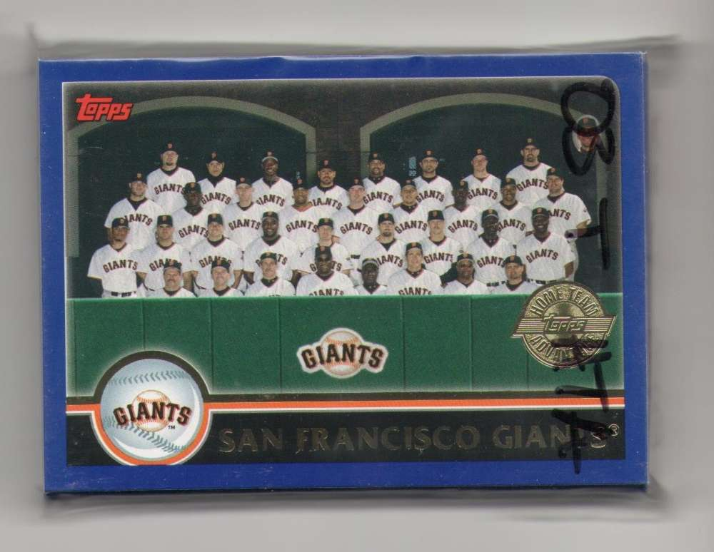 2003 Topps Home Team Advantage (HTA) - SAN FRANCISCO GIANTS Team Set