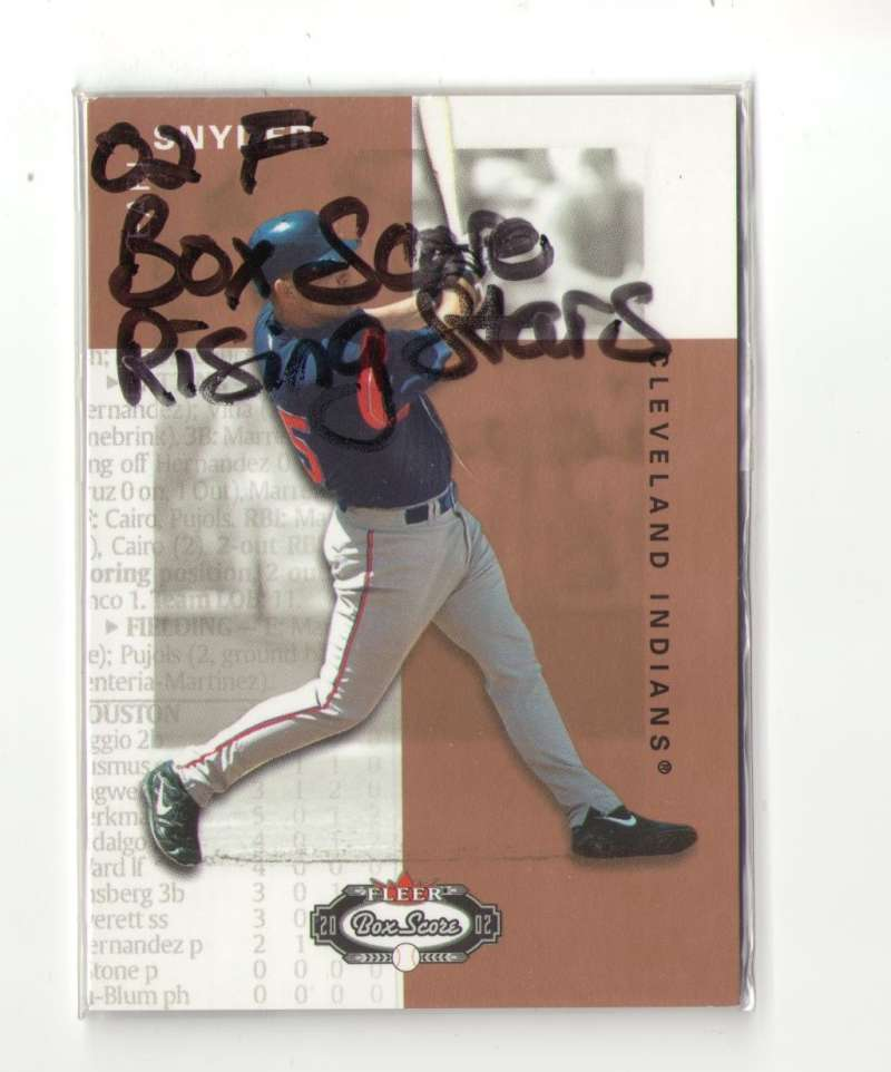 2002 Fleer Box Score Rising Star - CLEVELAND INDIANS Earl Snyder RC