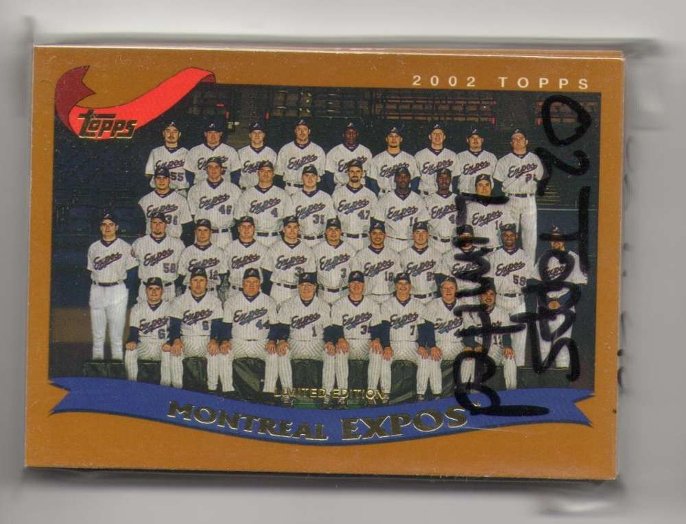 2002 Topps Limited (Tiffany) - MONTREAL EXPOS Team Set