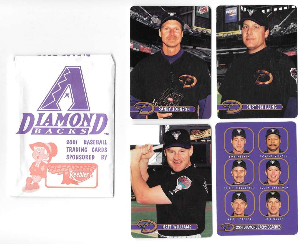 2001 Keebler ARIZONA DIAMONDBACKS Team Set SGA