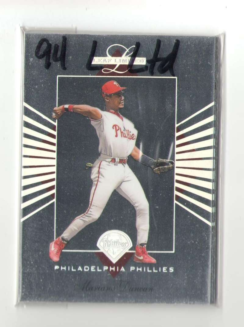 1994 LEAF LIMITED - PHILADELPHIA PHILLIES Team Set