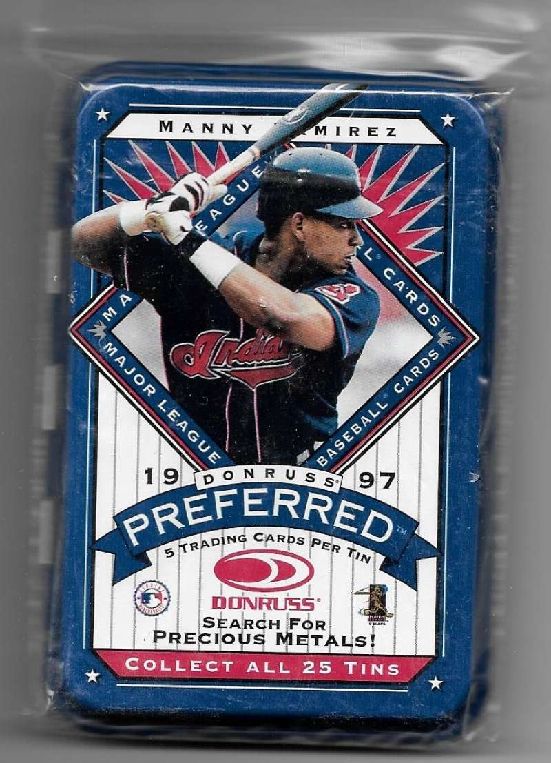 1997 Donruss Preferred Empty Tin - CLEVELAND INDIANS