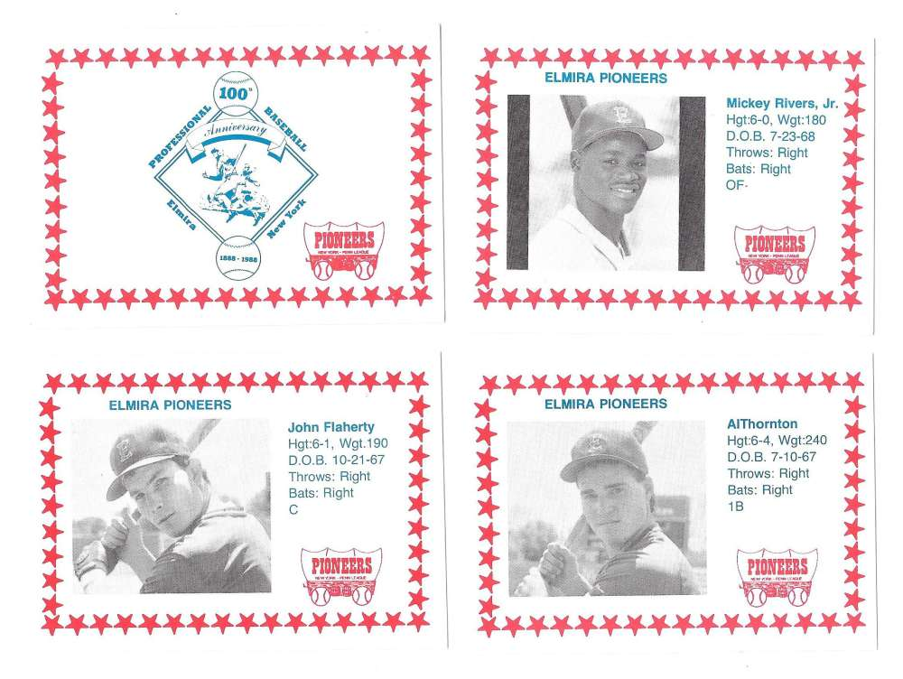 1988 Cain Minor League Team Set - Elmira Pioneers (Red Sox)