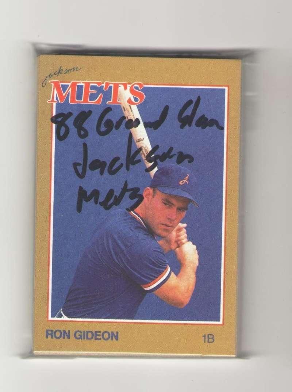 1988 Grand Slam Minor league Team Set - Jackson METS