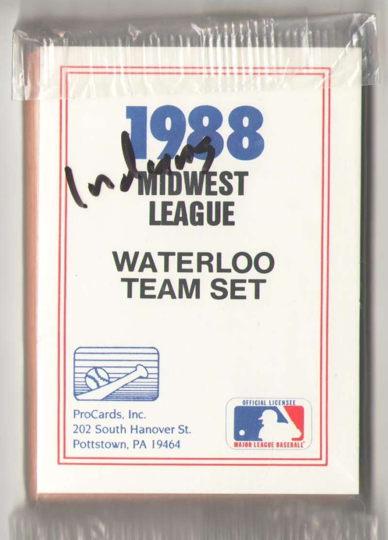 1988 ProCards Minor League Team Set - Waterloo INDIANS