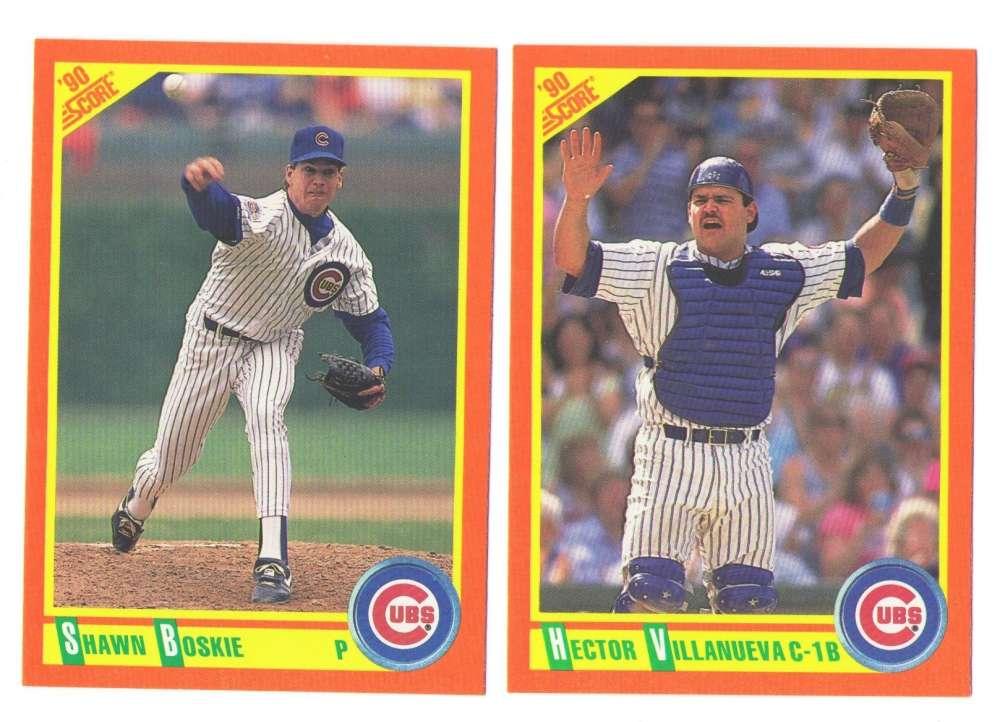 1990 D RC, F Up, S RC/TRD, T Trd & UD Hi# CHICAGO CUBS Team Set
