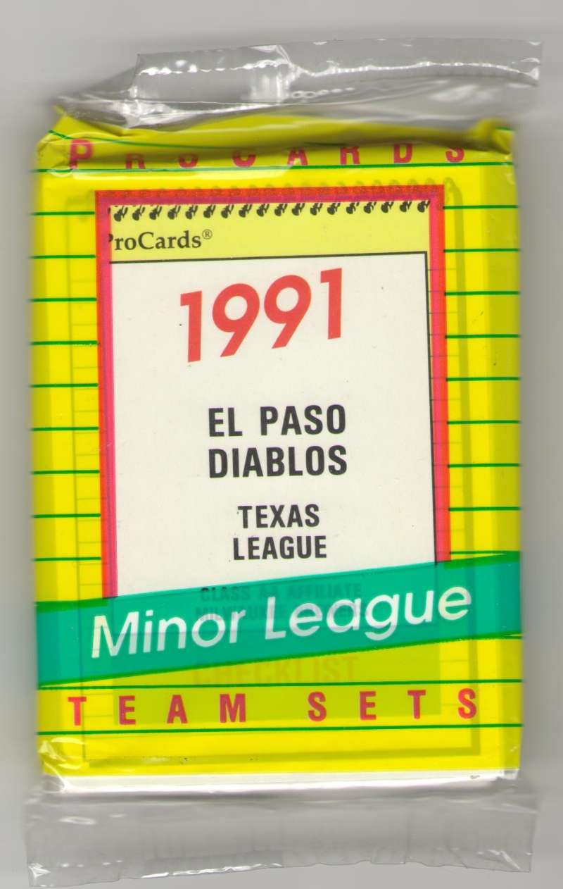 1991 ProCards Minor League Team Set - El Paso Diablos - BREWERS
