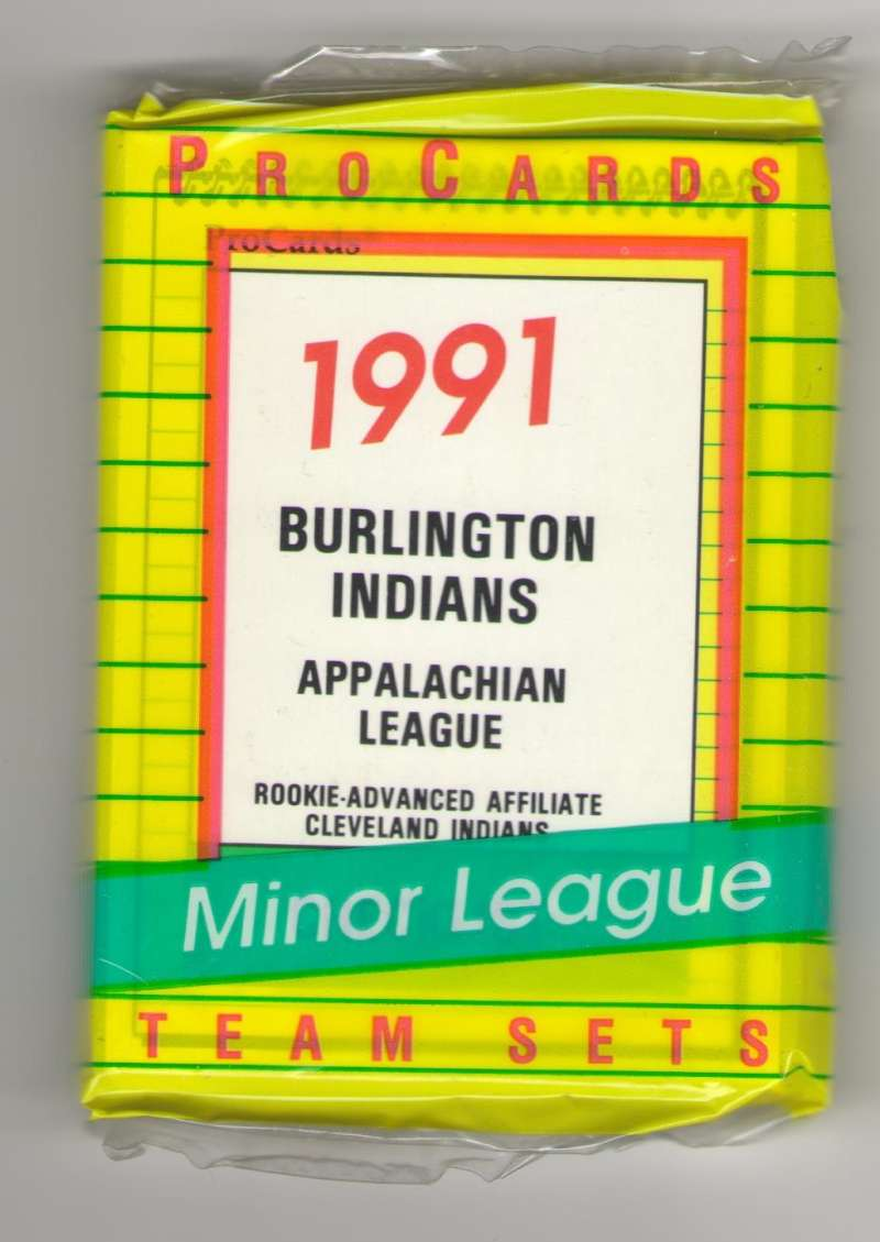 1991 ProCards Minor League Team Set - Burlington INDIANS w/ Manny Ramirez
