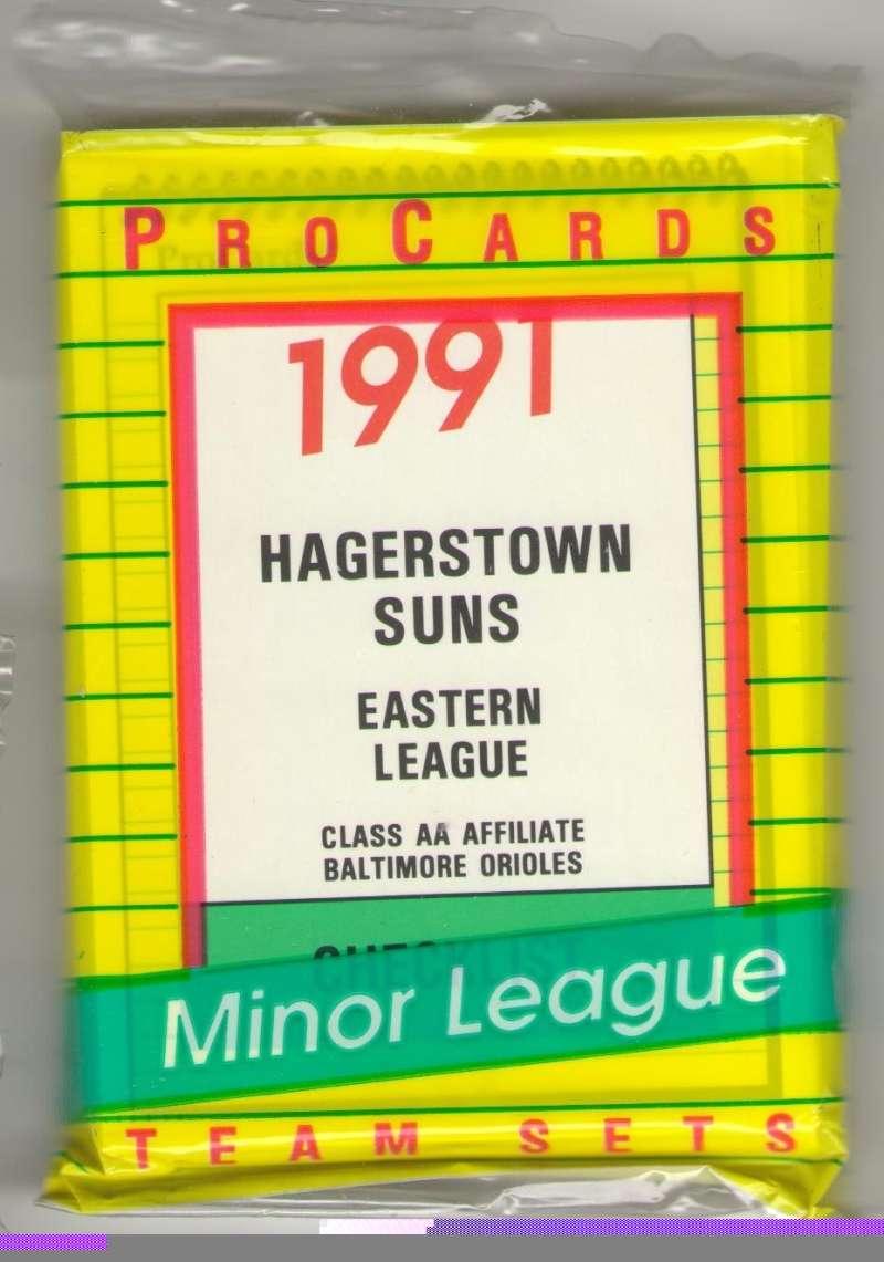 1991 ProCards Minor League Team Set - Hagerstown Suns - ORIOLES