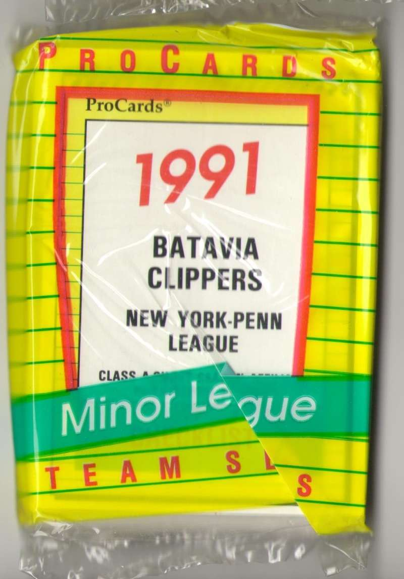 1991 ProCards Minor League Team Set - Batavia Clippers - PHILLIES