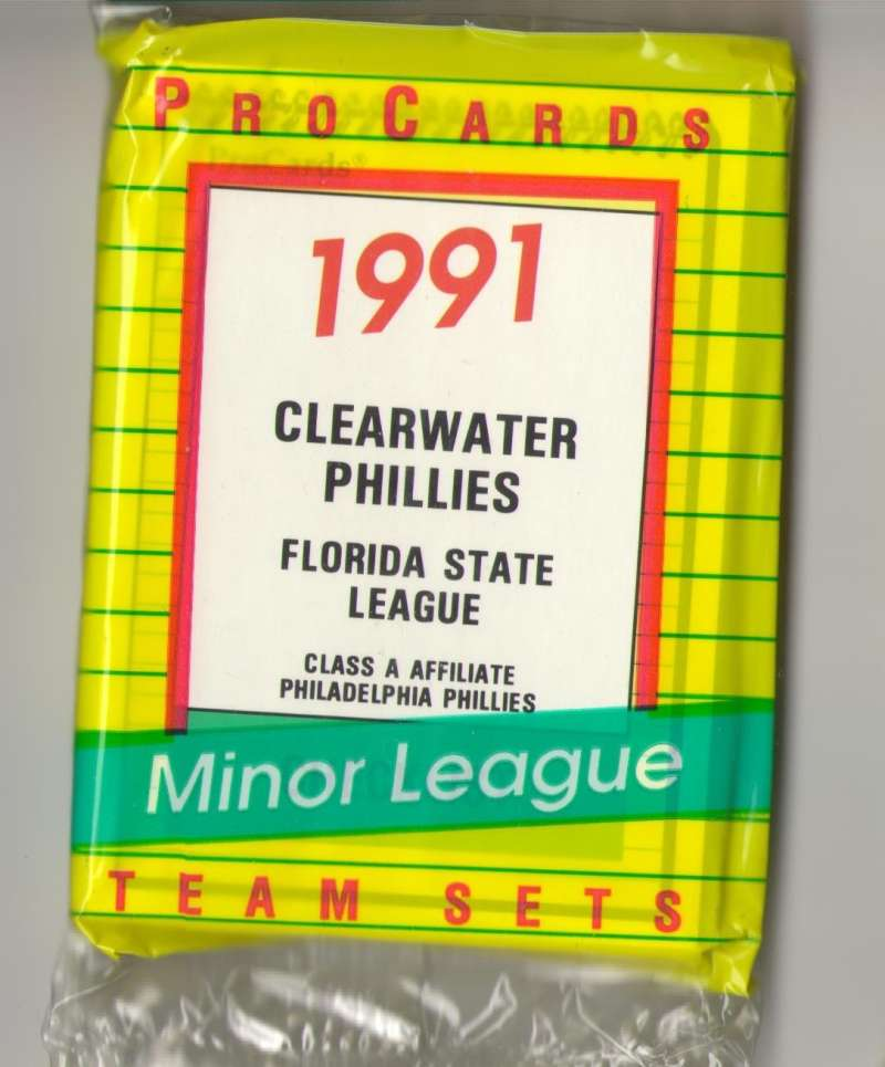 1991 ProCards Minor League Team Set - Clearwater PHILLIES