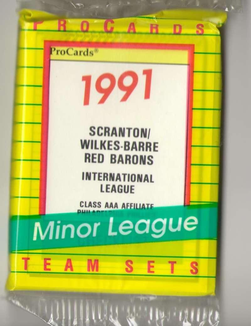 1991 ProCards Minor League Team Set - Scranton/Wilkes-Barre Red Barons - PHILLIES