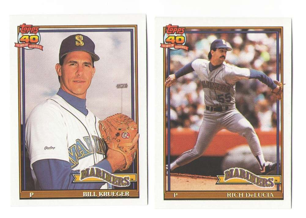 1991 Topps Traded Regular and Tiffany SEATTLE MARINERS Team Set