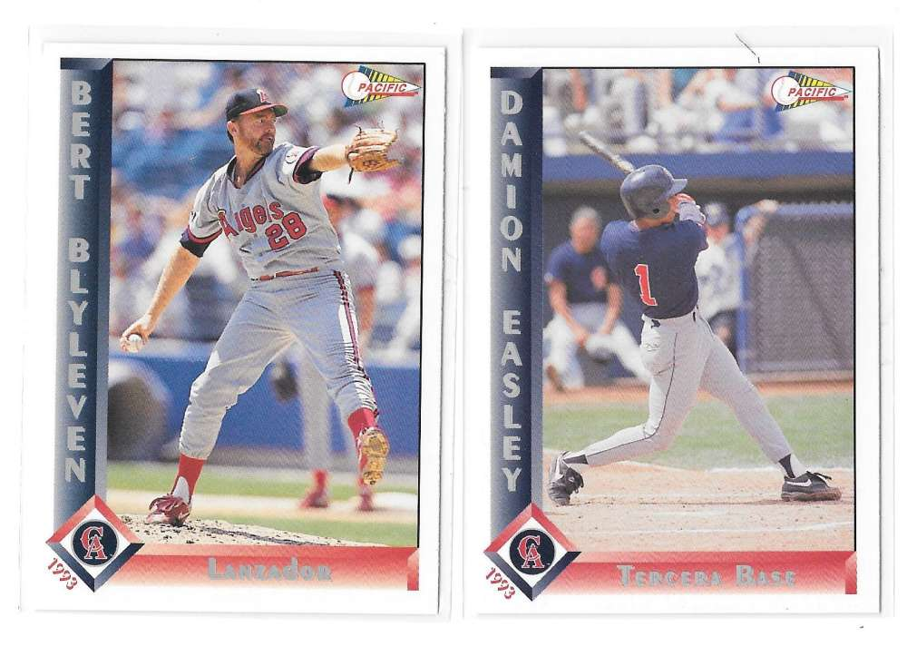 1993 Pacific (Spanish) CALIFORNIA ANGELS Team set