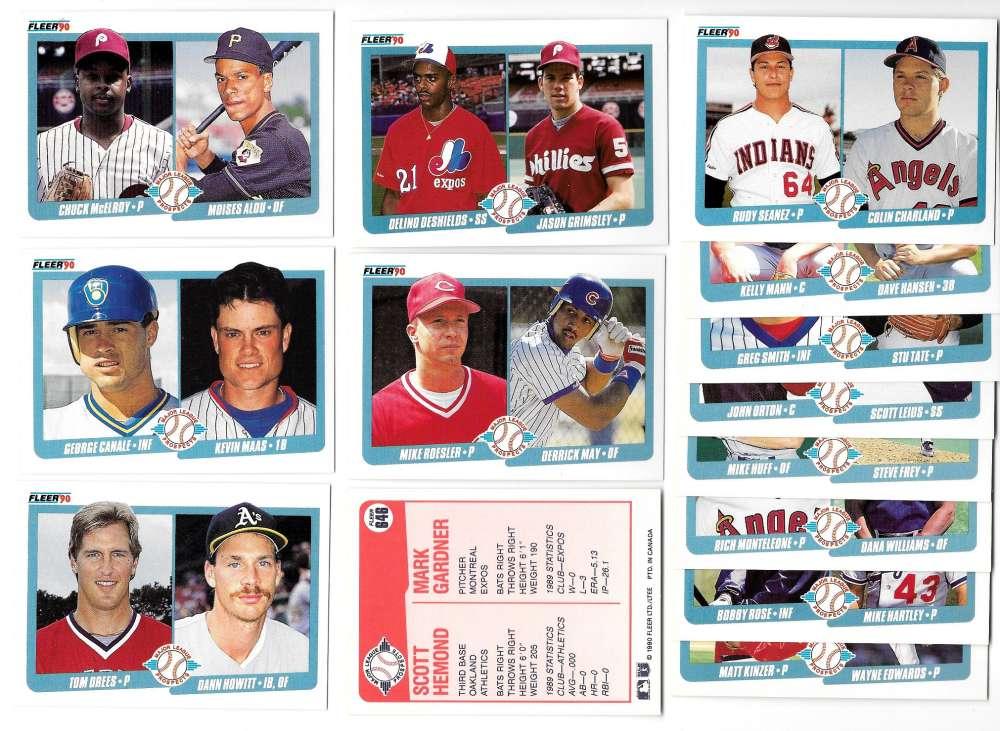 1990 Fleer Canadian - Major League Prospects (14 cards lot)