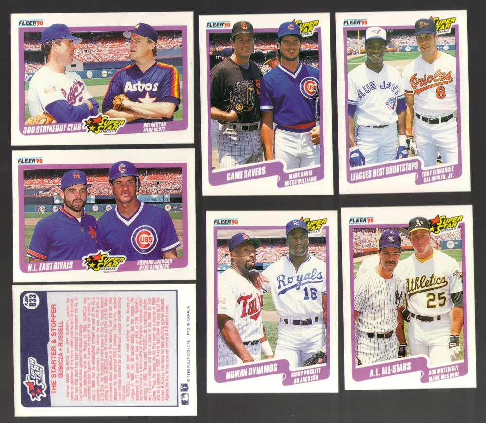 1990 Fleer Canadian - Combo cards of Multi players 7 card lot
