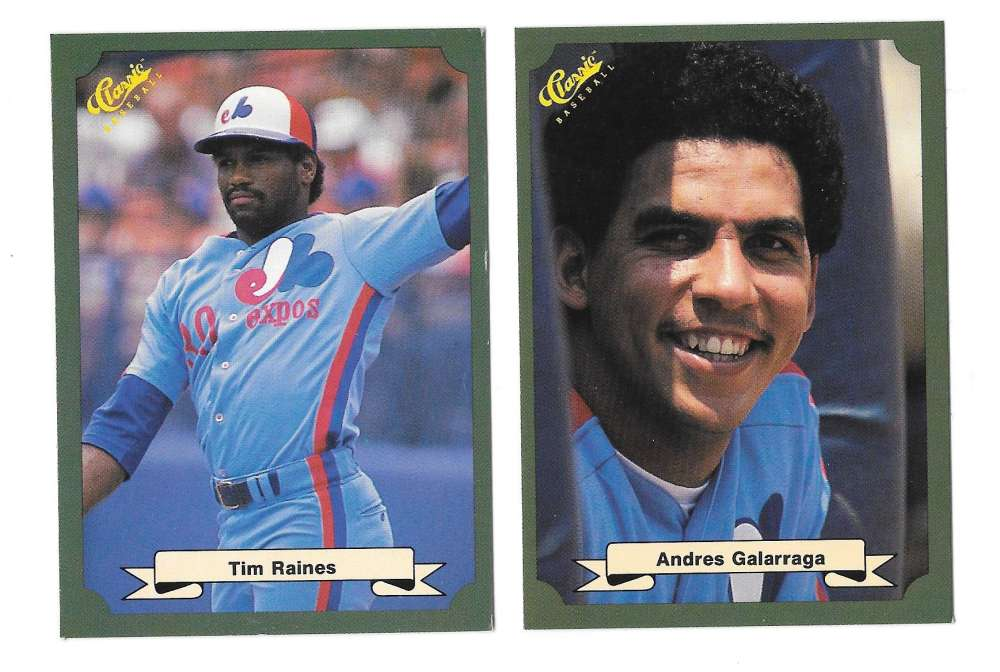 1987 Classic Game (Green) - MONTREAL EXPOS Team Set