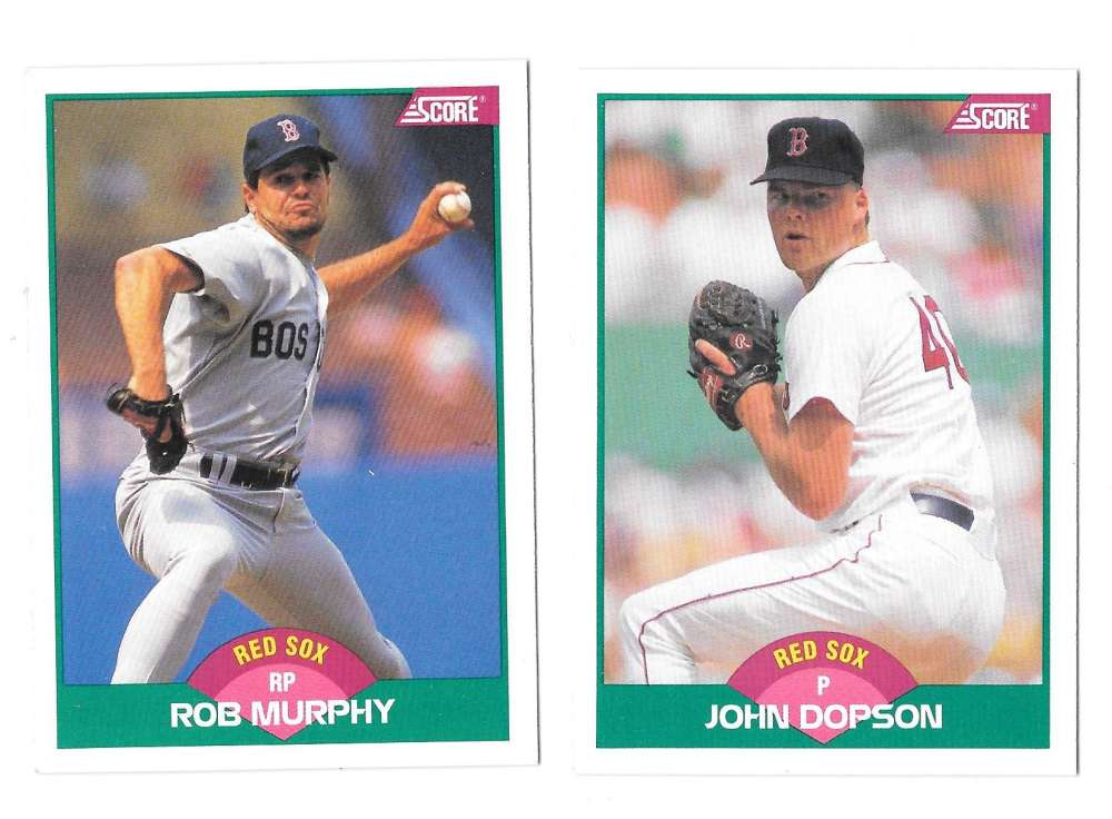 1989 Score Rookies and Traded - BOSTON RED SOX Team Set