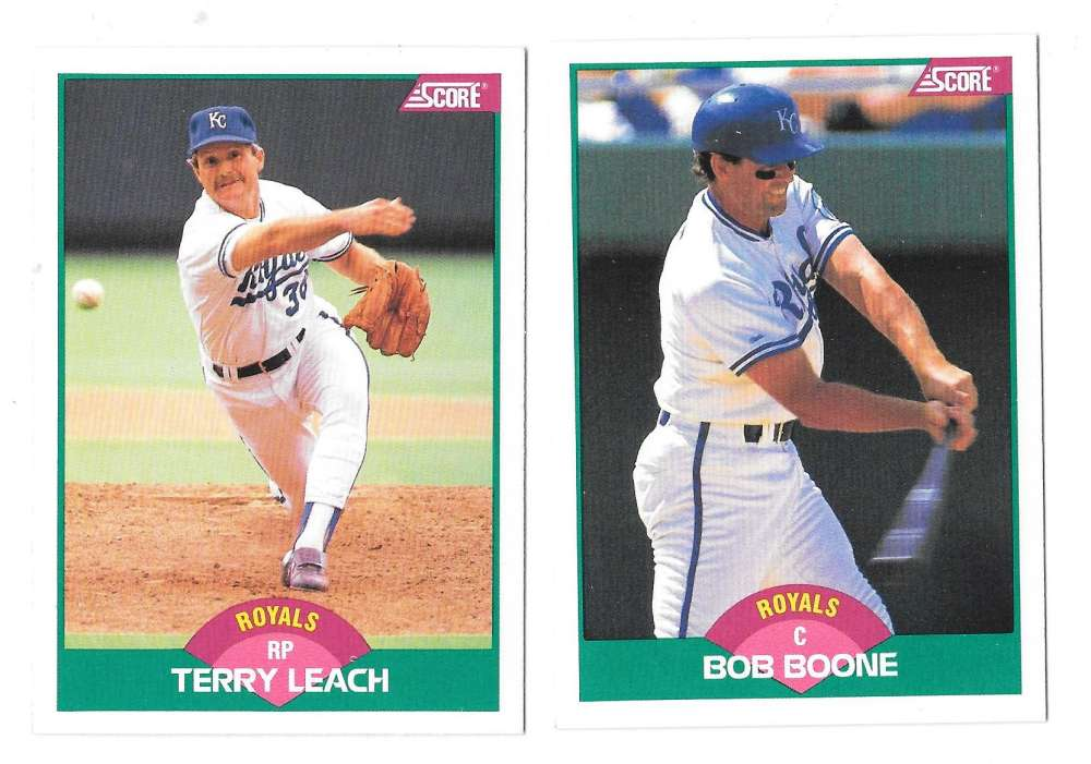 1989 Score Rookies and Traded - KANSAS CITY ROYALS Team Set