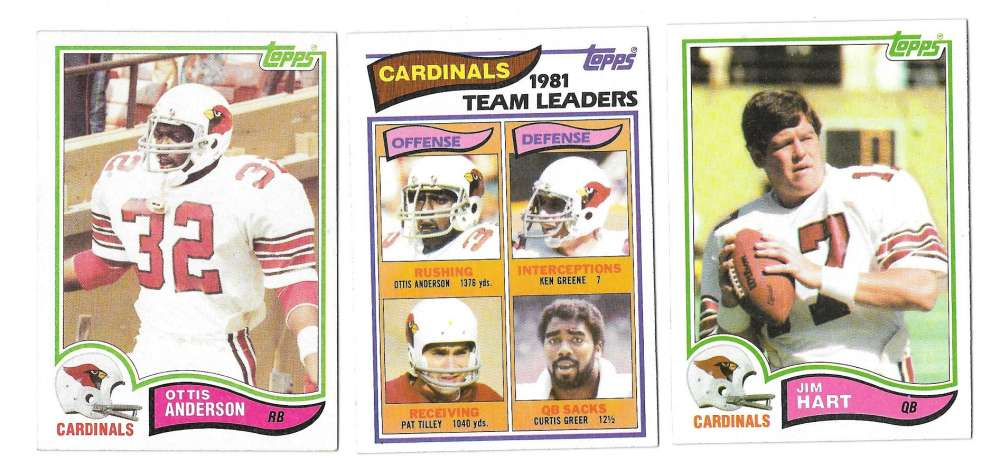 1982 Topps Football Team Set - ST LOUIS CARDINALS