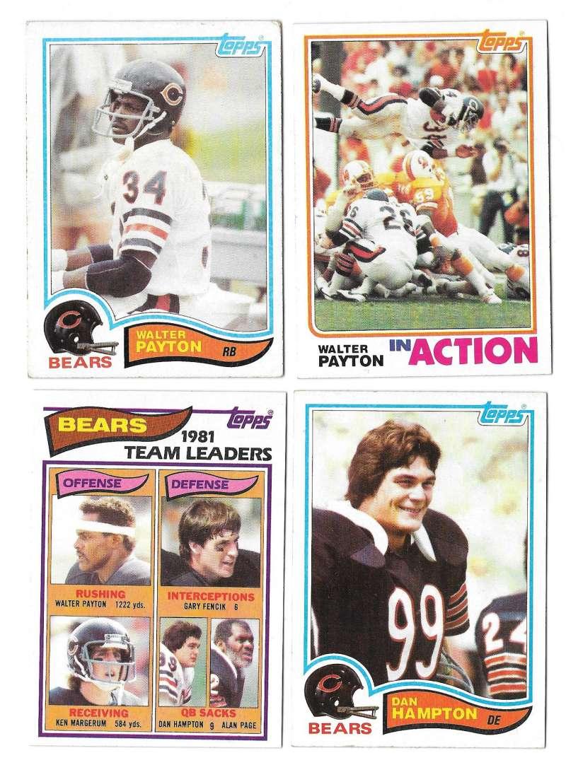 1982 Topps Football Team Set - CHICAGO BEARS