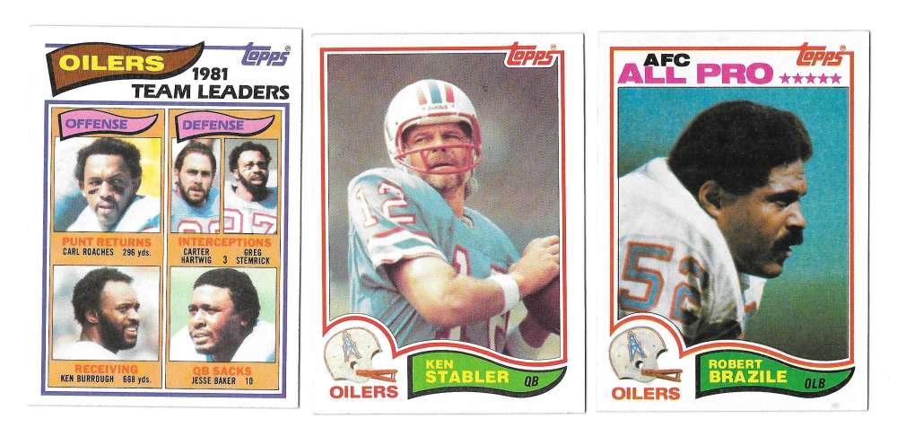 1982 Topps Football Team Set - HOUSTON OILERS
