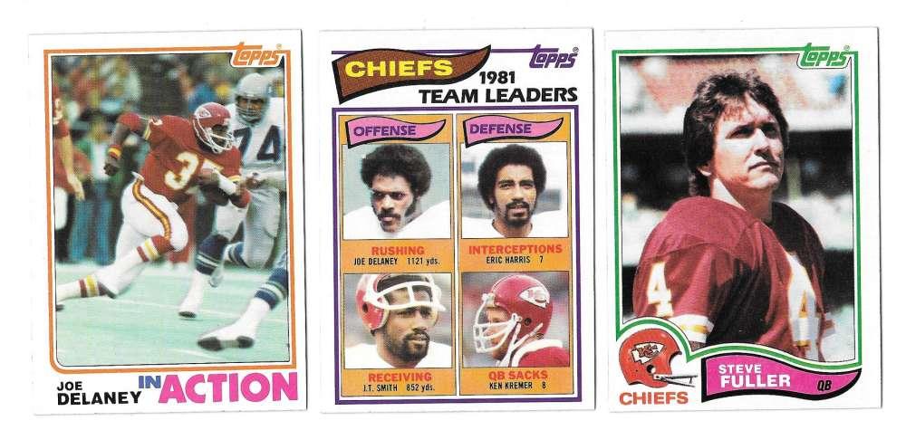 1982 Topps Football Team Set - KANSAS CITY CHIEFS